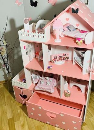 Игровой кукольный домик для Барби lol Монстер Хай Ляльковий Бу...