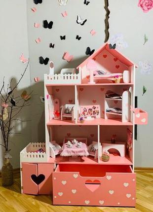 Кукольный домик для Барби ЛОЛ Винкс Монстер Хай Дом для кукол