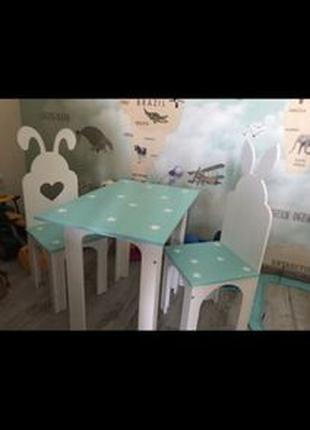 Набор Столик и Стульчик для деток Стол и Стул в детскую комнату