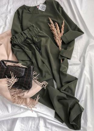 Костюм широкие брюки кюлоты и кофта