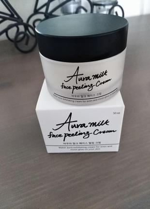 Крем пилинг для лица  tiam aura milk face peeling cream 50ml