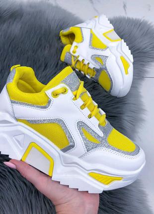 Желтые кроссовки, женские кроссовки, женские желтые кроссовки