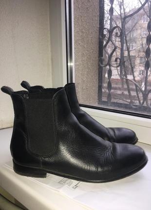 Челси кожаные женские ботинки