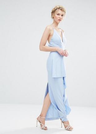 Нежное платье макси небесного цвета для  asos