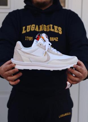 Nike sacai white мужские кроссовки найк белые