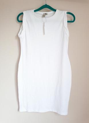 Белое платье-футболка asos