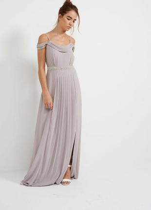 Серое платье tfnc london для asos 16 и 22 размер в наличии