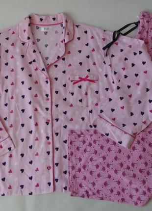 Пижама л-хл байка-трикотаж f&f