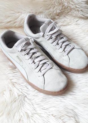 Замшевые кроссовки на платформе puma 41 размер
