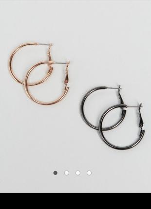 Серьги кольца набор 2 пары asos
