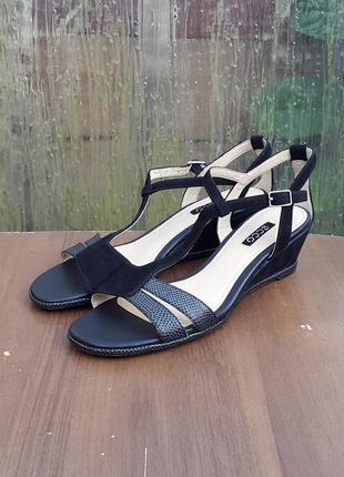Кожаные сандалии босоножки ecco rivas 45 ii 40 р. оригинал