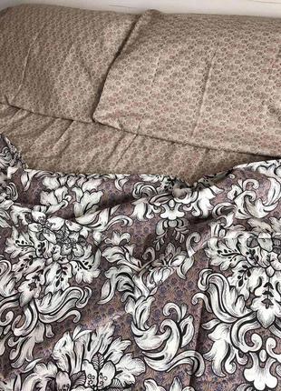 Коричневое постельное белье натуральная ткань
