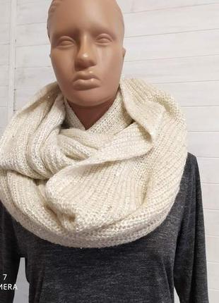 Супер классный снуд,шарф капюшон в паетках