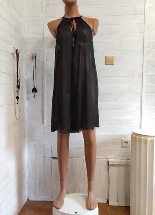 Платье  миленькое готическое, прозрачное h&m