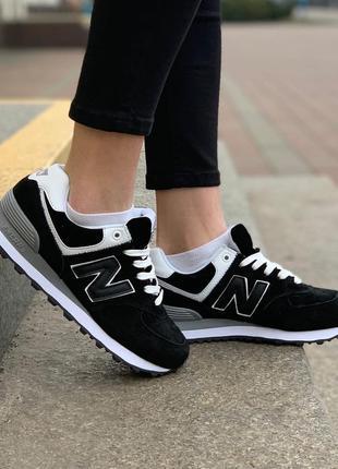 Стильные кроссовки 😍 new balance 574 black/white😍