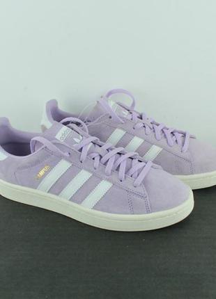 Оригинальные кожаные кроссовки adidas campus sneaker purple by...
