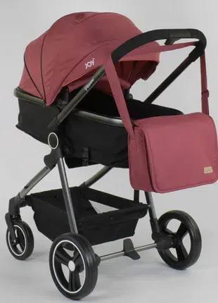 Детская универсальная коляска трансформер 2 в 1 Naomi, красная
