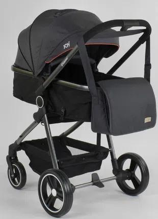 Детская универсальная коляска трансформер 2 в 1 Naomi, серая