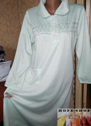 Домашнее утепленное платье с длинным рукавом,ночная рубашка,со...