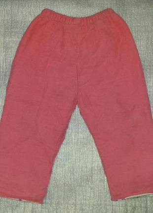 Утеплённые зимние штаны для девочек на 2 годика