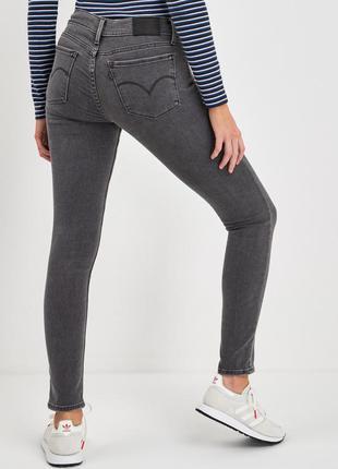 Серые джинсы супер скинни super skinny 710 levis