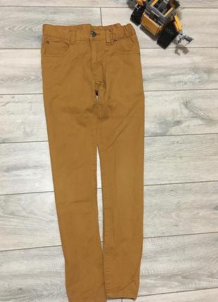 Стильные брюки котон горчичные штани штаны зауженные для мальч...