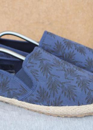 Эспадрильи dmg текстиль германия 45р кеды слипоны мокасины