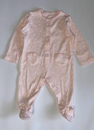 "Человечки george ""pink dinosaur"" 0-3 mths, 56-62 см"
