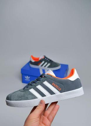 Adidas gazelle, женские кроссовки адидас газель серые
