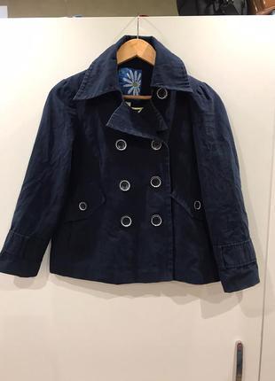 Пальто next,пальтишко для девочки,синее пальто