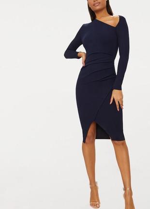 Платье миди по фигуре с длинными рукавами