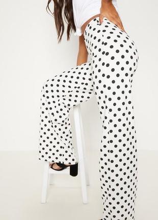 Красивые летние белые брюки в горошек 👜