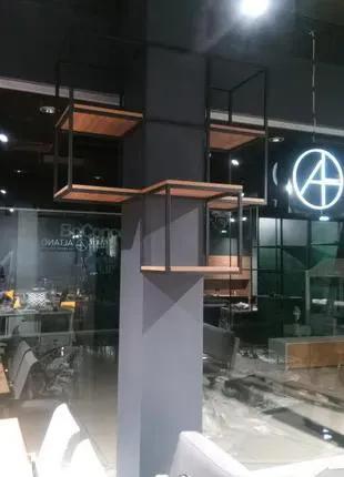 ЛОФТ стеллажи и полки, мебель для магазина, офиса