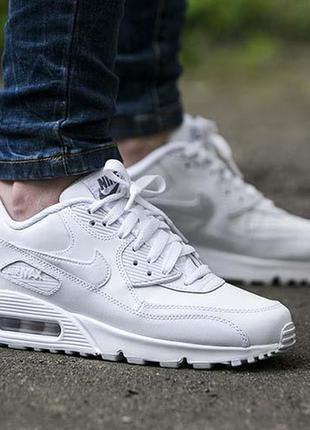 Nike air max 90 white мужские кроссовки найк белые
