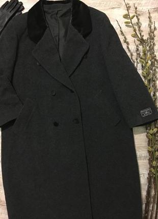 Стильное шерстяное демисезонное пальто большого размера🌿шерсть...