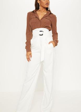 Скидка только два дня!!! шикарные белые брюки, высокая талия с...