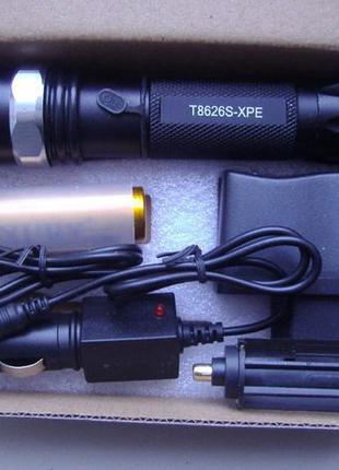 Фонарик (фонарь) питание от аккумулятора 18650/14500 (в компле...