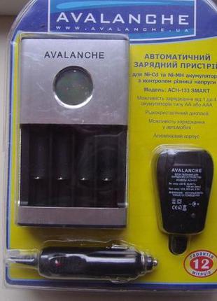 Зарядное для аккумуляторов AA AAA Avalanche ACH-133 Smart с ди...
