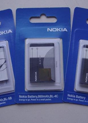 Аккумулятор Nokia BL-4C/6100 860mAh BL-5C/1100 1020mAh BL-5B 8...