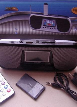 Колоночка колонка (для ноутбука/компьютера) FM MP3 microSD пульт