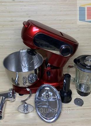 Кухонный комбайн Crownberg 3в1 (тестомес, мясорубка, блендер) ...