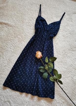 Сарафан миди платье бельевой стиль размер 36-38 h&m