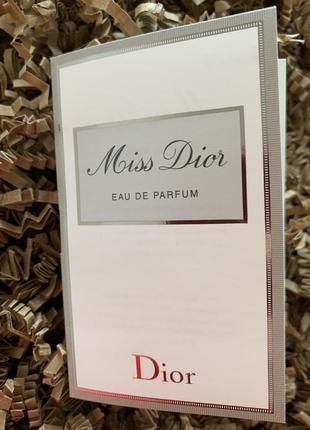 Пробник парфюмерной воды miss dior eau de parfum
