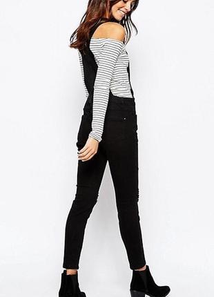 Комбинезон джинсовый с вышивкой denim co размер xs