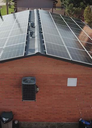 Строительство станции на солнечных панелях