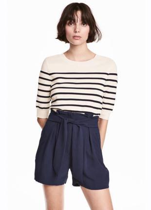 Женские шорты с поясом от h&m