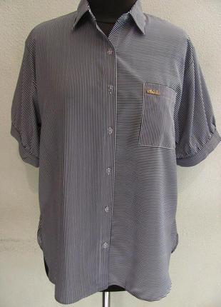 Классическая летняя блуза-рубашка из ткани софт, под юбку или ...