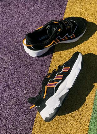 🔥  Adidas Ozweego Black/White/Orange