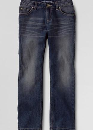 Темные джинсы на девочек, lands end, америка, р.5-6 лет