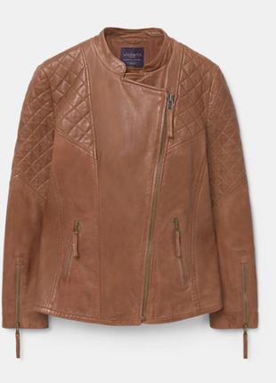 Кожанная куртка - жакет, отличного качества, пог  51, mango , ...